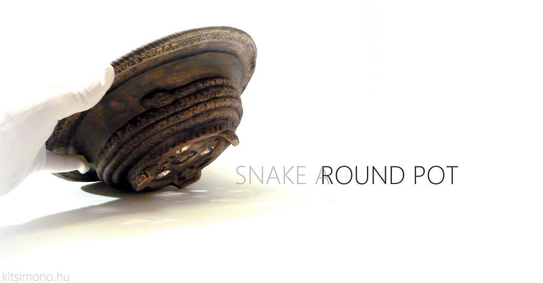 round kerek bonsai tal pot a kitsimono bonsai ceramics műhelyből