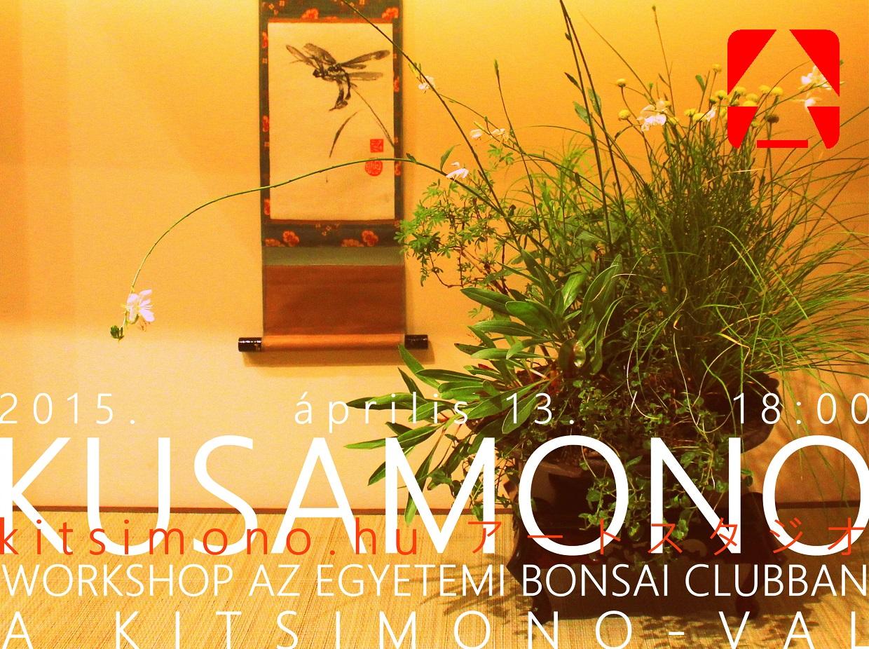 kusamono workshop a kitsimono műhellyel az egyetemi bonsai club klubnapján