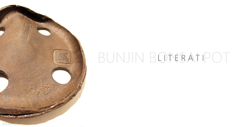 bunjin literati bonsai tal pot ceramic a kitsimono műhelyből